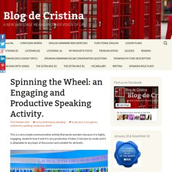 Spinning the Wheel: an Engaging and Productive Speaking Activity.