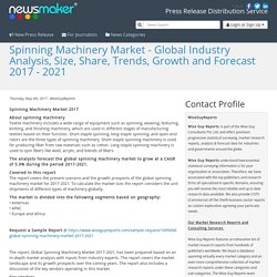 Spinning Machinery Market - Global Industry Analysis, Size, Share, Trends, Growth and Forecast 2017 - 2021