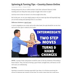 Spinning & Turning Tips – Country Dance Online