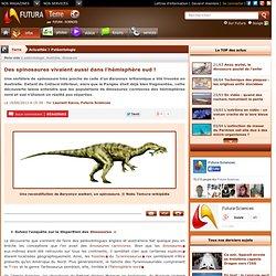Des spinosaures vivaient aussi dans l'hémisphère sud !