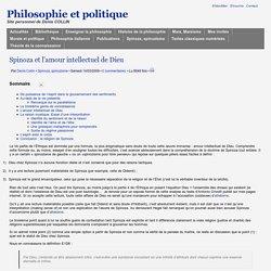 Spinoza et l'amour intellectuel de Dieu