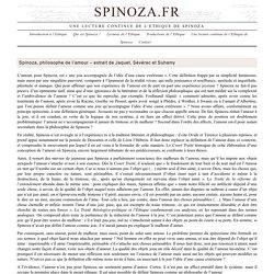 Spinoza, philosophe de l'amour – extrait de Jaquet, Sévérac et Suhamy