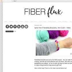 Spiral Yarn Friendship Bracelets, Yarn Craft + Video