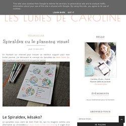 Spiraldex ou le planning visuel - Les Lubies de Caroline
