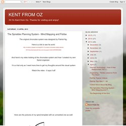 KENT FROM OZ: The Spiraldex Planning System - Mind Mapping and Filofax