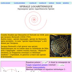 Spirale logarithmique
