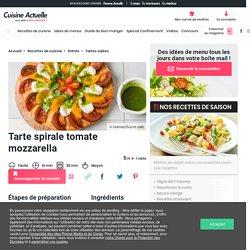 Tarte spirale tomate mozzarella facile