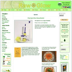 Spiralo plus Free Recipe Booklet | Raw Glow