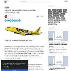 spirit airlines contact phone number +1-855-936-1490
