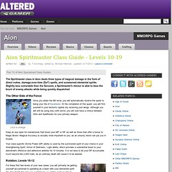 Aion Spiritmaster Class Guide - Levels 10-19