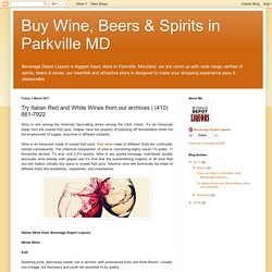 Wine of the month with Beverage Depot Liquor