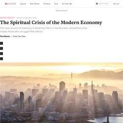 The Spiritual Crisis of the Modern Economy