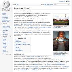 Retreat (spiritual)