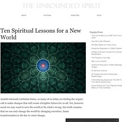 Ten Spiritual Lessons for a New World