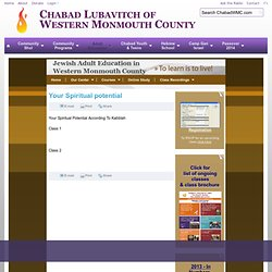 Your Spiritual potential - Chabad Lubavitch of Western Monmouth County