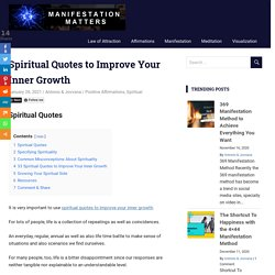 Spiritual Quotes to Improve Your Inner Growth -