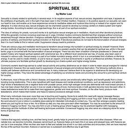 SPIRITUAL SEX