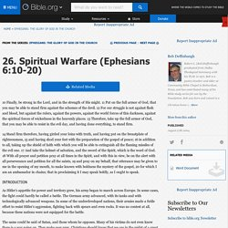 Spiritual Warfare (Ephesians 6:10-20