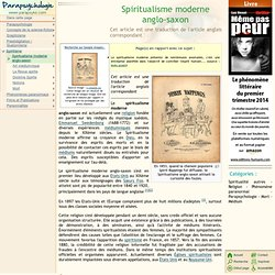 Spiritualisme moderne anglo-saxon
