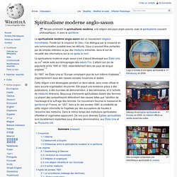 Spiritualisme moderne anglo-saxon/ Wikipedia