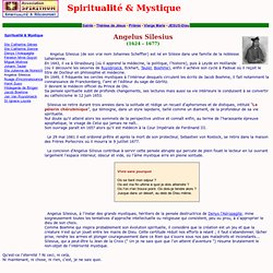 Spiritualité - Angelus Silesius