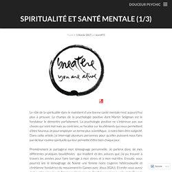 Spiritualité et santé mentale (1/3)