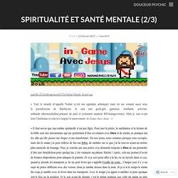 Spiritualité et santé mentale (2/3)