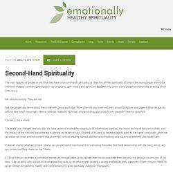 Second-Hand Spirituality