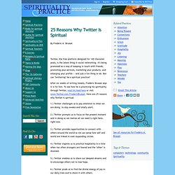 Spirituality & Practice: Spiritual Practice Feature: 25 Reas