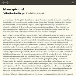 VERDIER - Islam spirituel