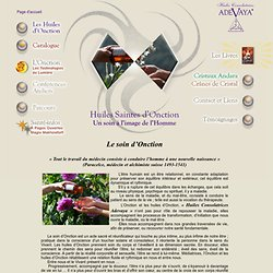 huile spirituelle, huiles spirituelles, Huiles d'onction