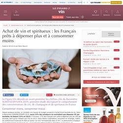 Achat de vin et spiritueux : les Français prêts à dépenser plus et à consommer moins