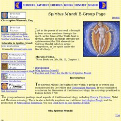 Spiritus Mundi Traditional Astrology E-Group Page