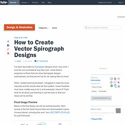 How to Create Vector Spirograph Designs