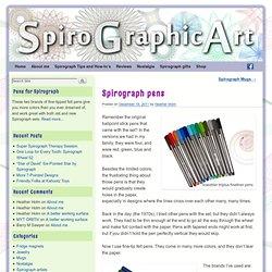 Spirograph pens - SpiroGraphicArt