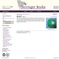 Seed , Spirtuality - Baba Ram Dass et al - Derringer Books - Rare and unusual art, poetry, and photography books