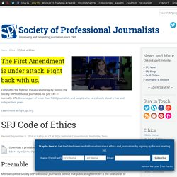 SPJ Code of Ethics