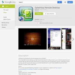 Splashtop Remote Desktop - Apps on Android Market