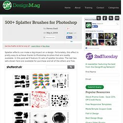 500+ Splatter Brushes for Photoshop
