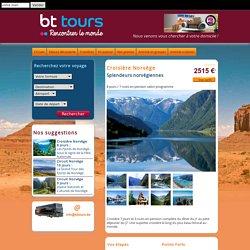 BT TOURS : Croisière norvège, splendeurs norvégiennes 8 jours -