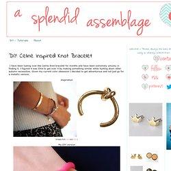 Celine Inspired Knot Bracelet