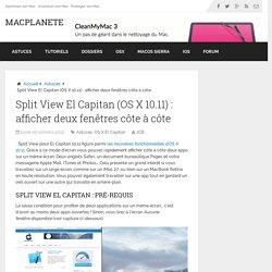 Split View OS X El Capitan (10.11) : afficher la vue scindée