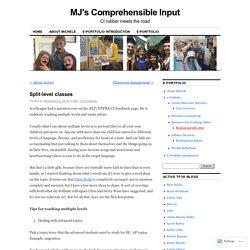 MJ's Comprehensible Input
