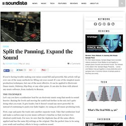 Split the Panning, Expand the Sound | Soundista