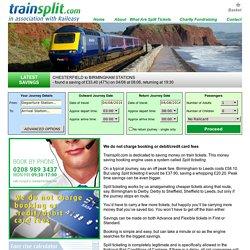 Split Your Train Tickets - TrainSplit.com