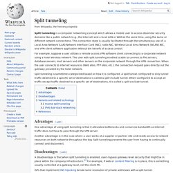 Split tunneling - Wikipedia