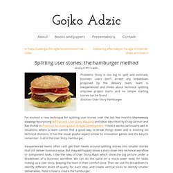 Splitting user stories: the hamburger method