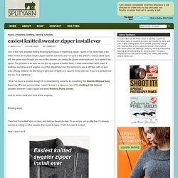 Blog Archive » easiest knitted sweater zipper install ever