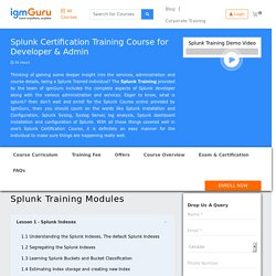 Splunk Certifications Course