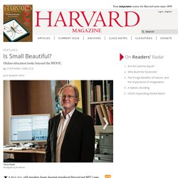 With SPOCs, HarvardX tries making MOOCs smaller